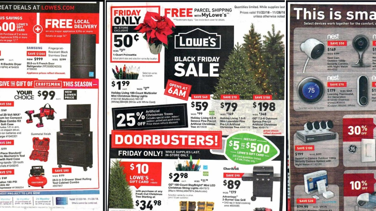 Lowe's Black Friday ad