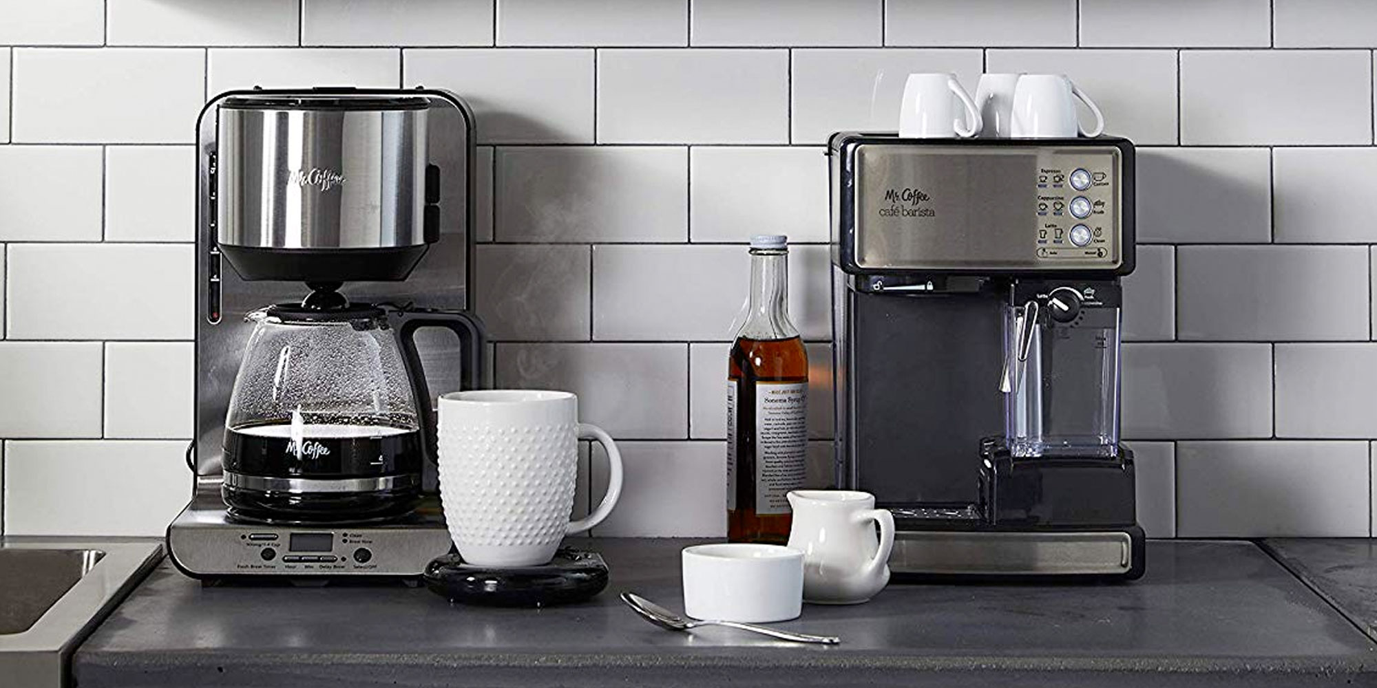 Enjoy espresso or cappuccinos at home w/ this Mr. Coffee brewer for $100 (50% off)