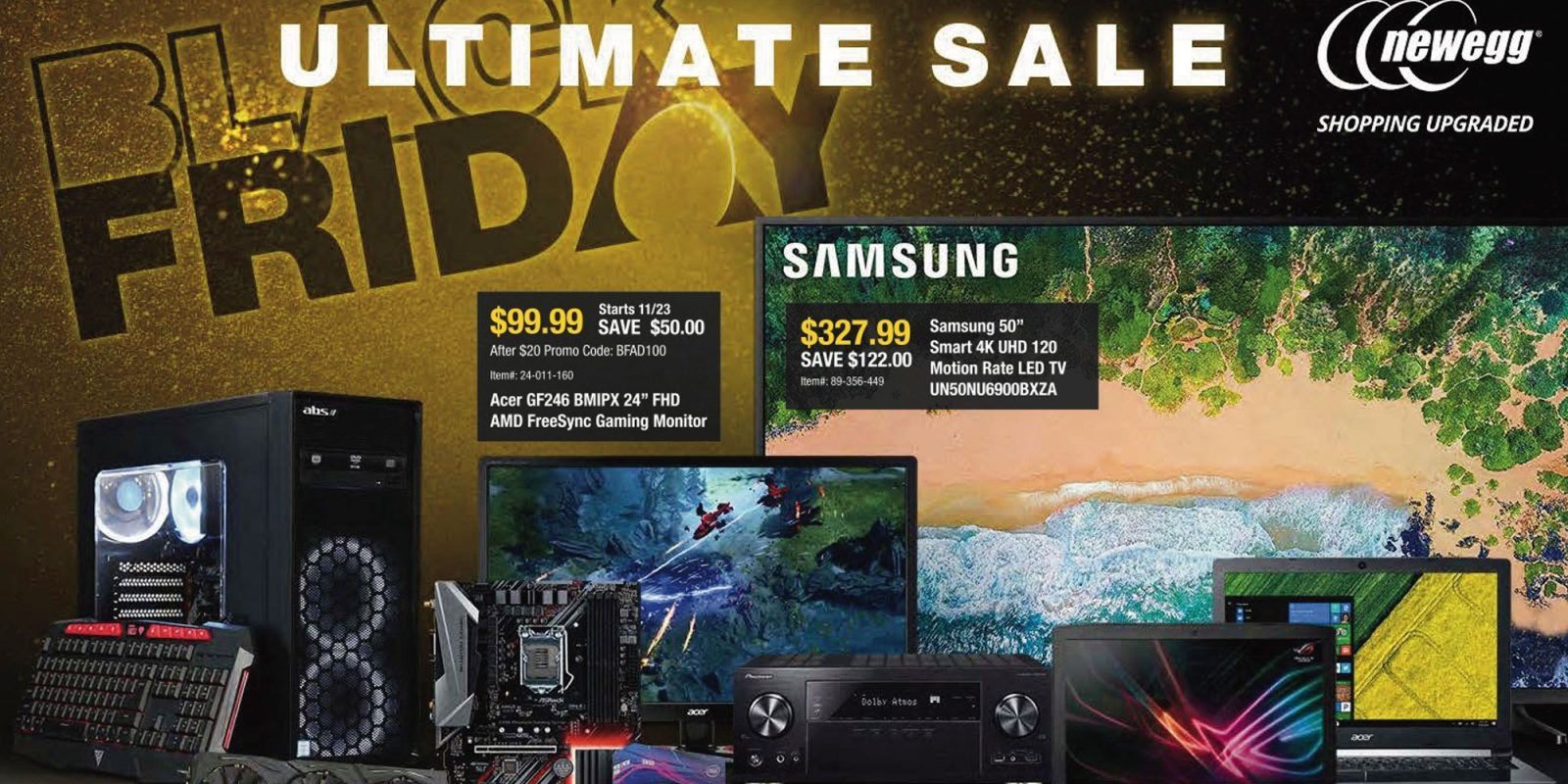 c016c91fd5b Newegg Black Friday ad: Xbox One X discounts, computer peripherals, home  theater, more