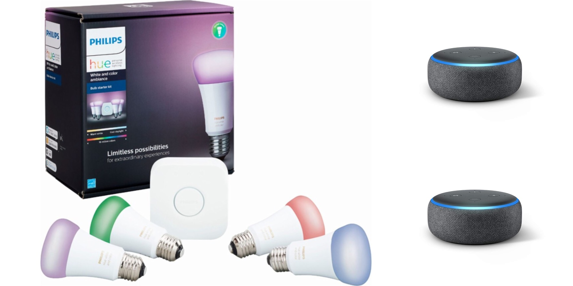 The Philips Hue Color 4 Bulb Starter Kit W Two 3rd Gen