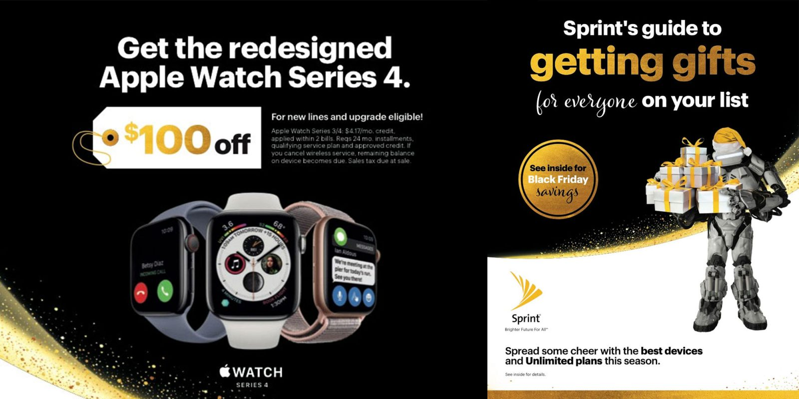 Sprint's Black Friday ad delivers rare Apple Watch Series 4 discount