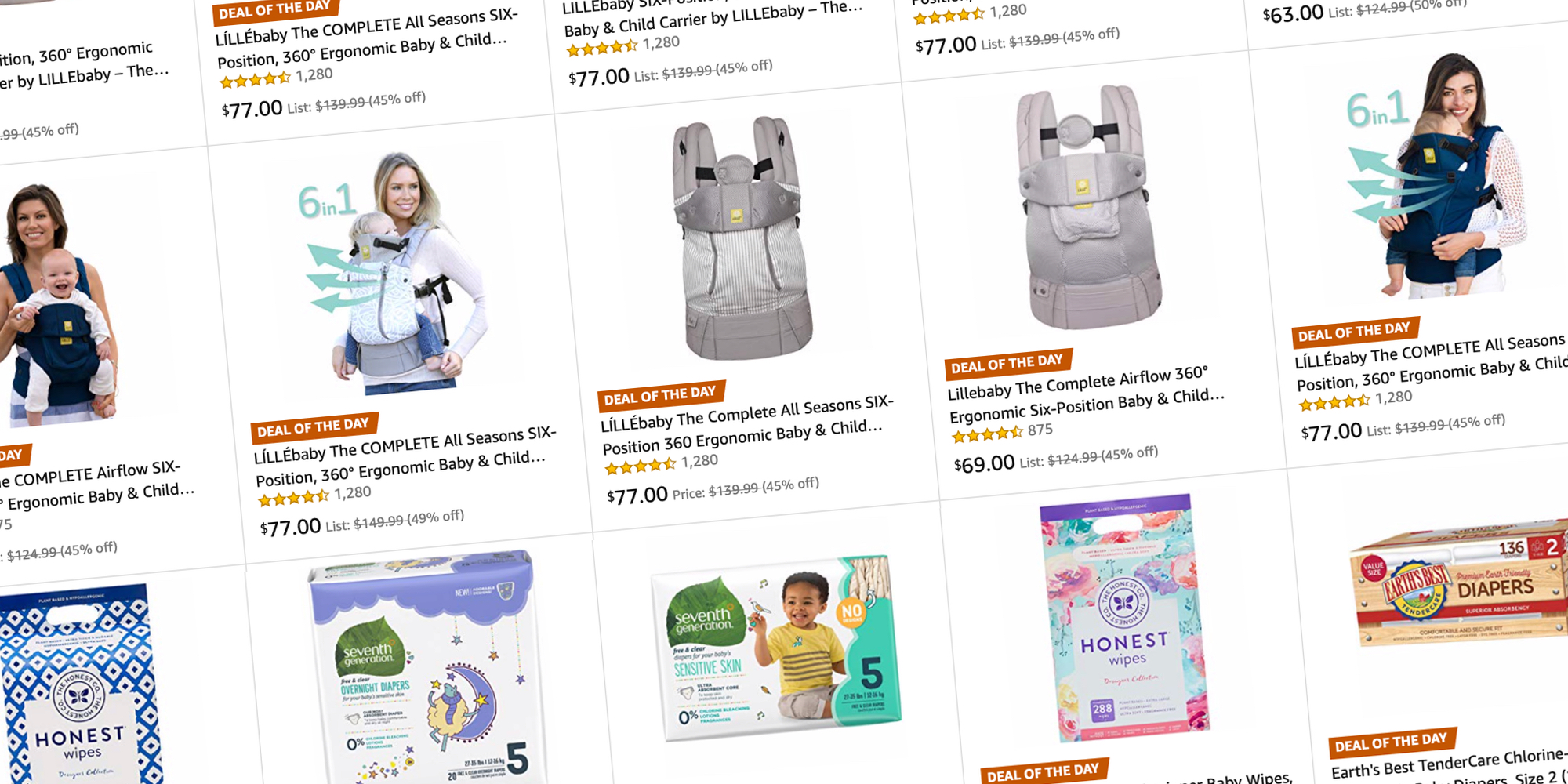 Amazon's Gold Box discounts natural baby care products and child carries from $5 (Up to 40% off)