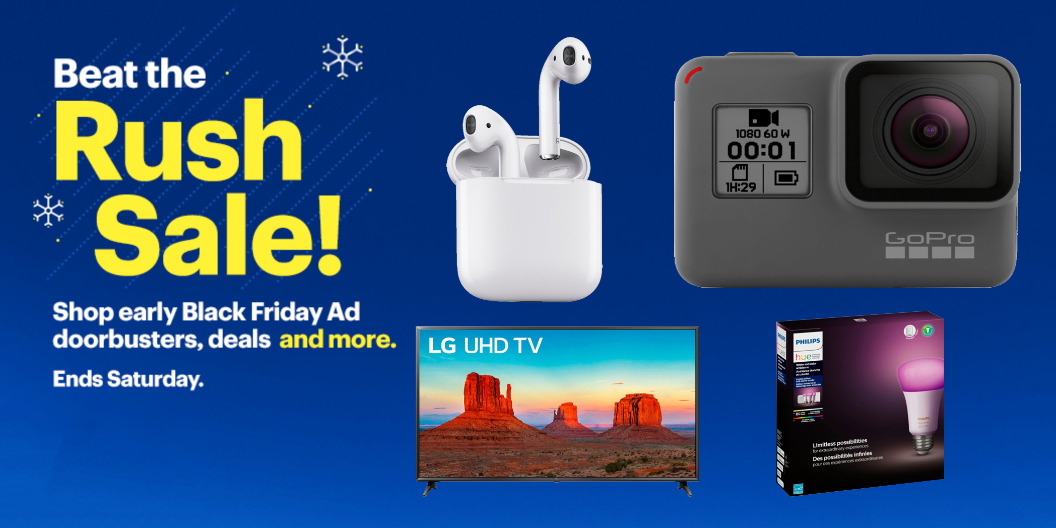 Beat the Rush Sale at Best Buy includes $200 off iPhone, AirPods, Philips Hue, more