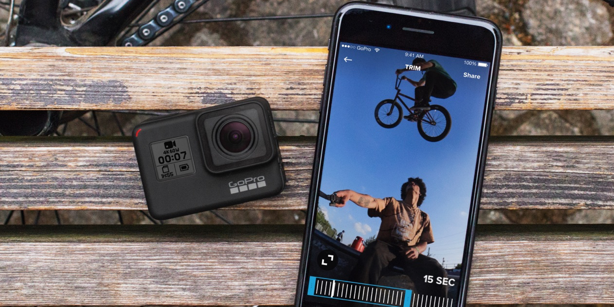 GoPro's HERO7 Black w/ SD card shoots 4K60 & has HyperSmooth stabilization: $300 ($400+ value)