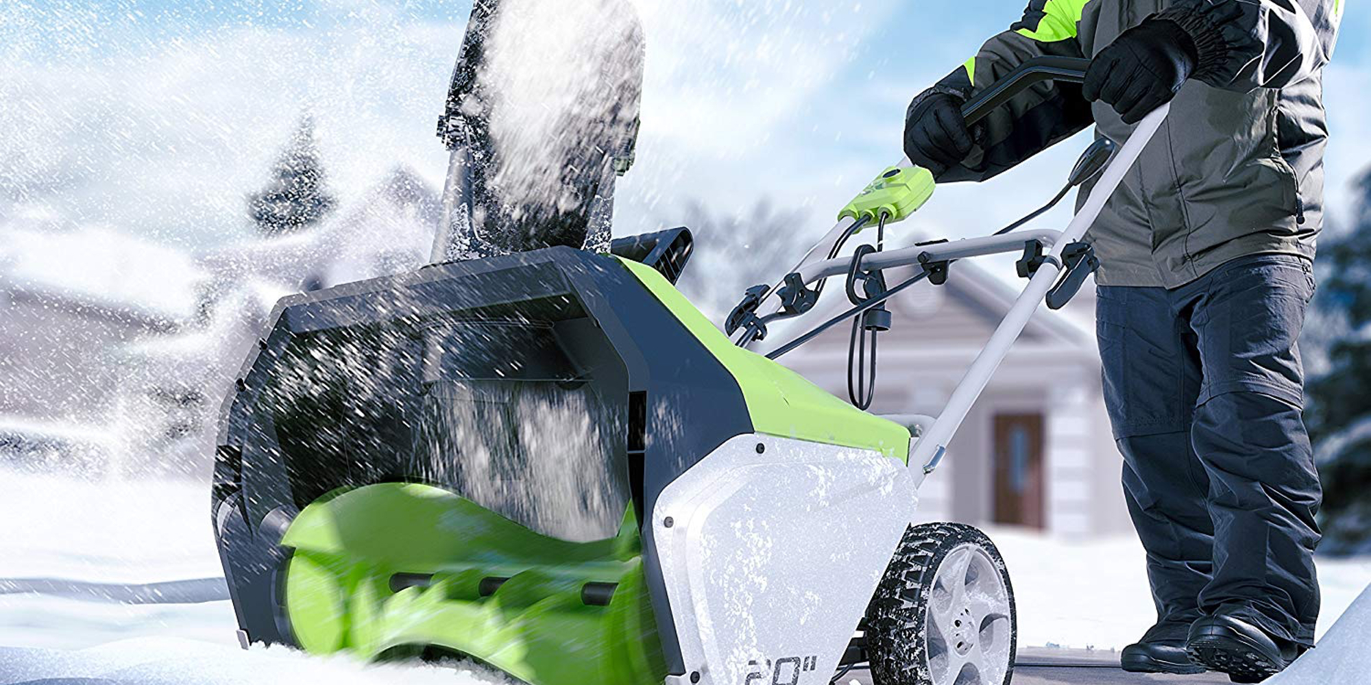 Greenworks 20-Inch Electric Snow Thrower is a must-have this winter, now at $101 (Reg. $140)