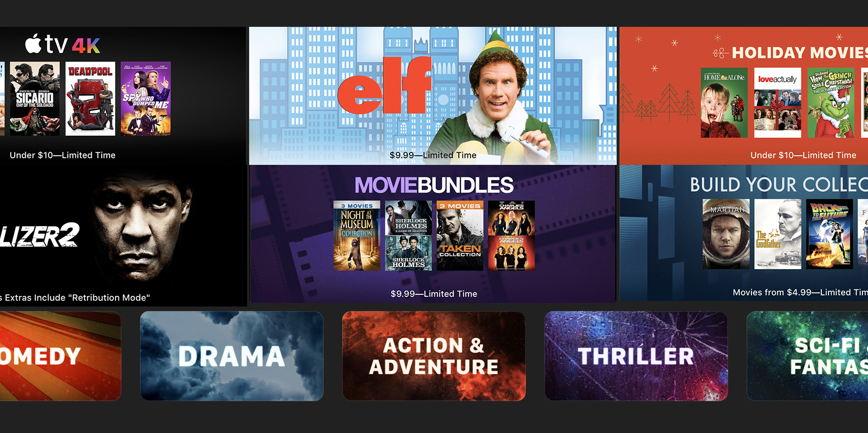 iTunes Black Friday Movie Sale: Bundles from $10, 4K as low as $5, holiday films, much more