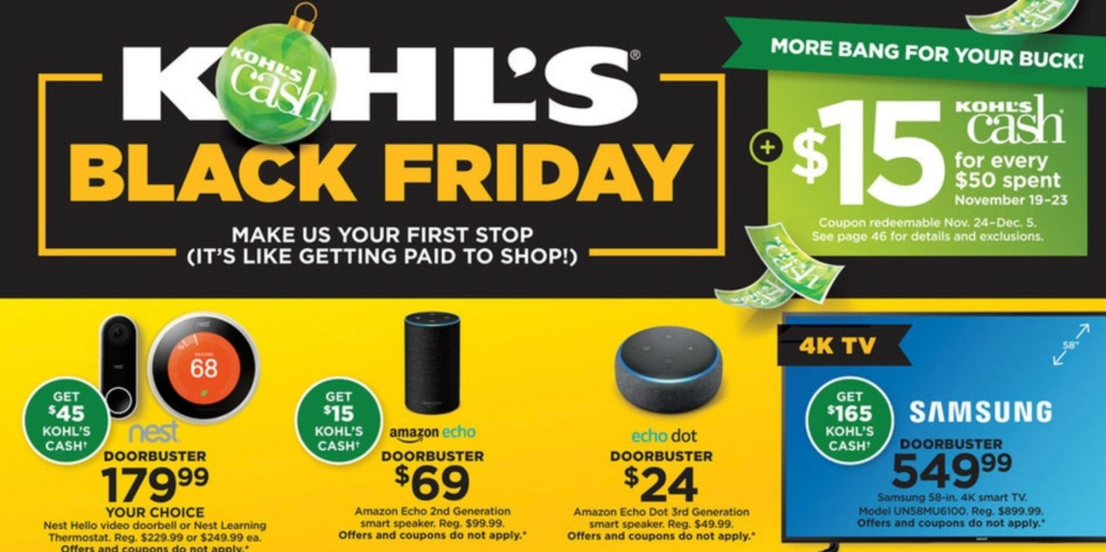 b8939c9c47f Kohl's Black Friday Ad 2018 - doorbusters, Kohl's cash, more - 9to5Toys