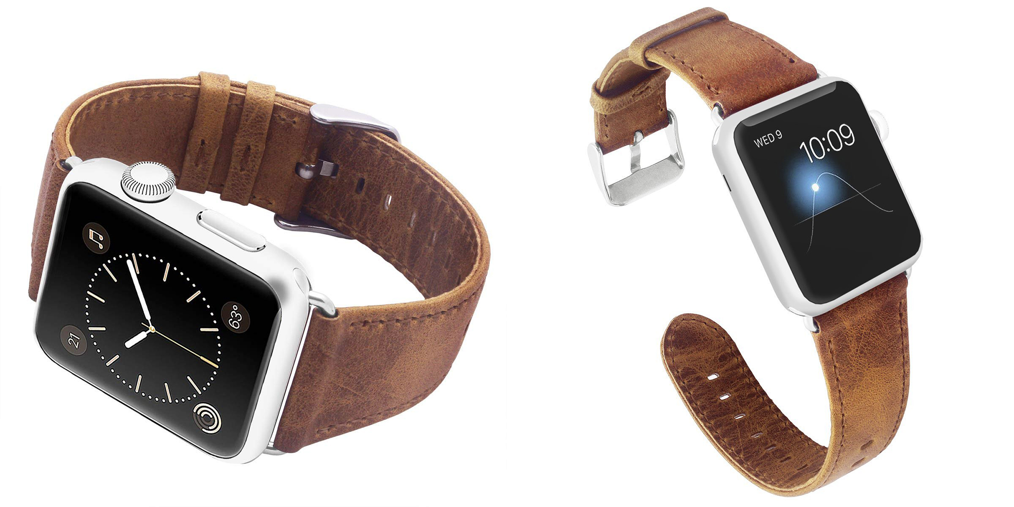 Bring a new style to your Apple Watch w/ this $5 leather band via Amazon