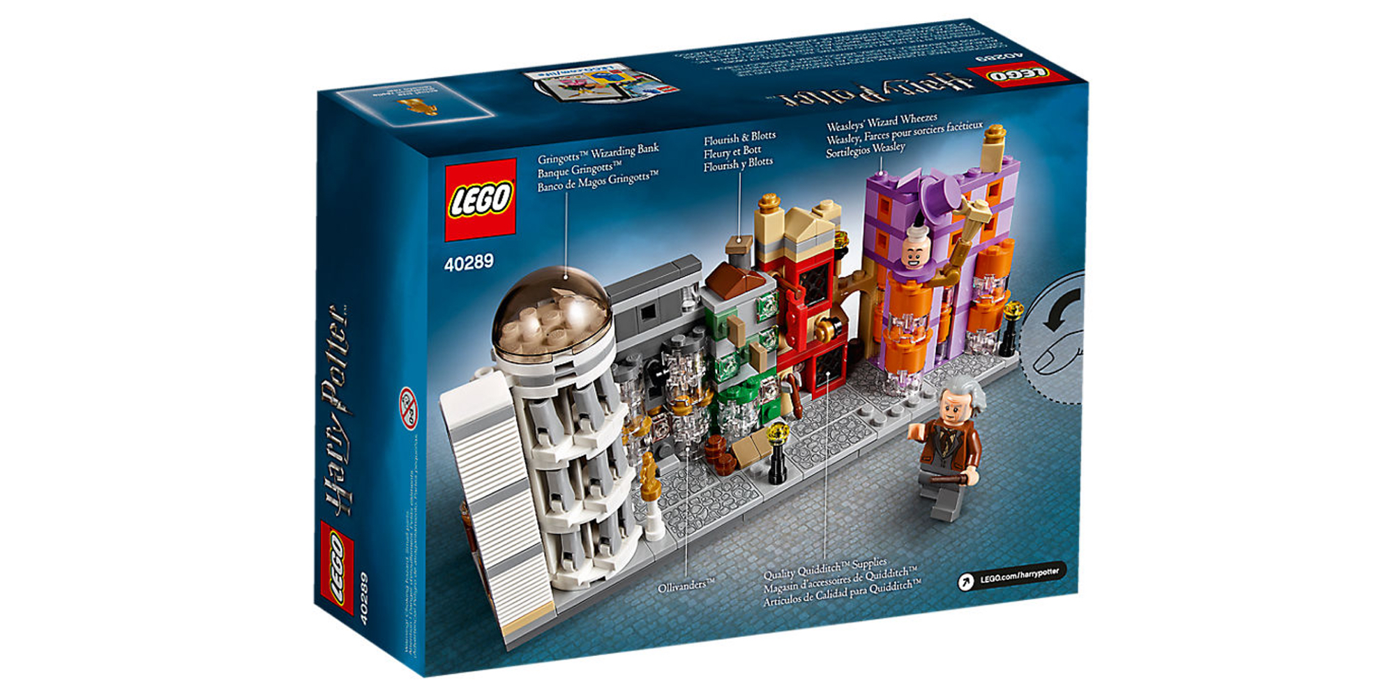 LEGO Diagon Alley Box Back