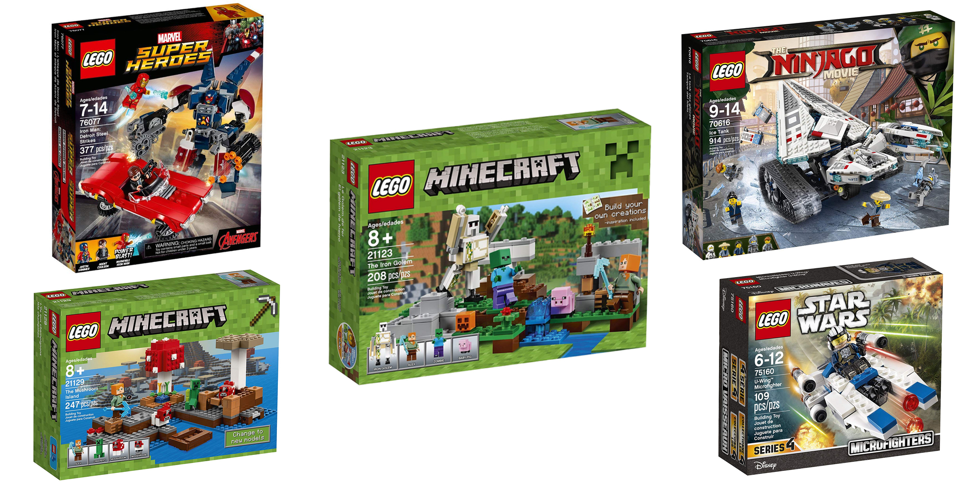 save 55 on lego 39 s minecraft iron golem kit at 9 shipped more sets from 7 9to5toys. Black Bedroom Furniture Sets. Home Design Ideas