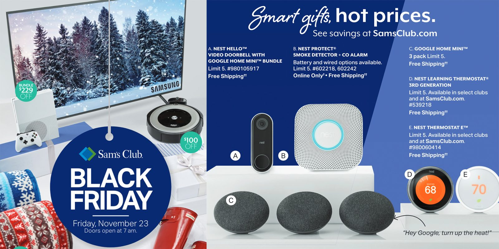 e8d639a347a Sam s Club Black Friday ad reveals extensive Nest discounts