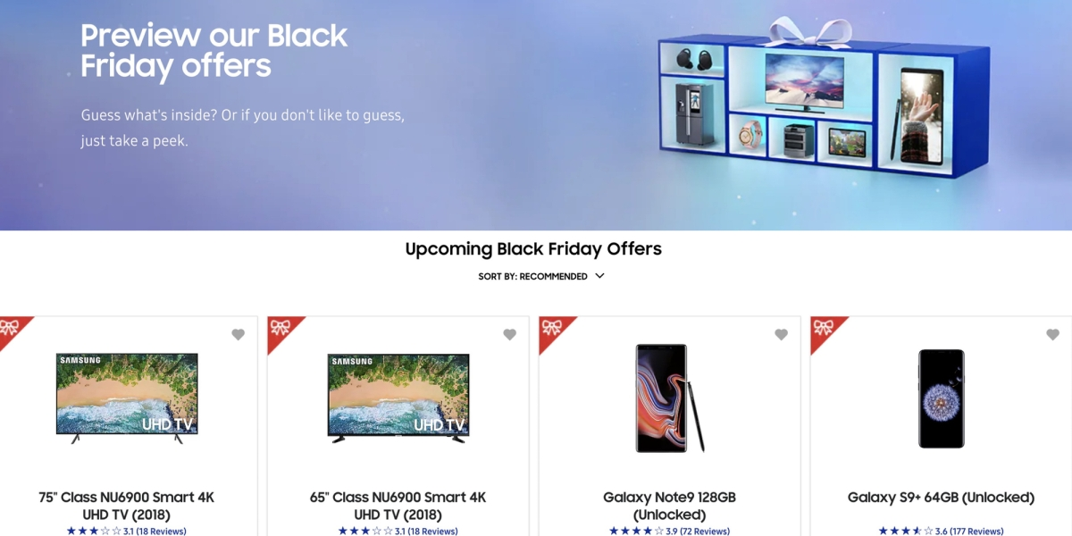 Samsung Black Friday ad