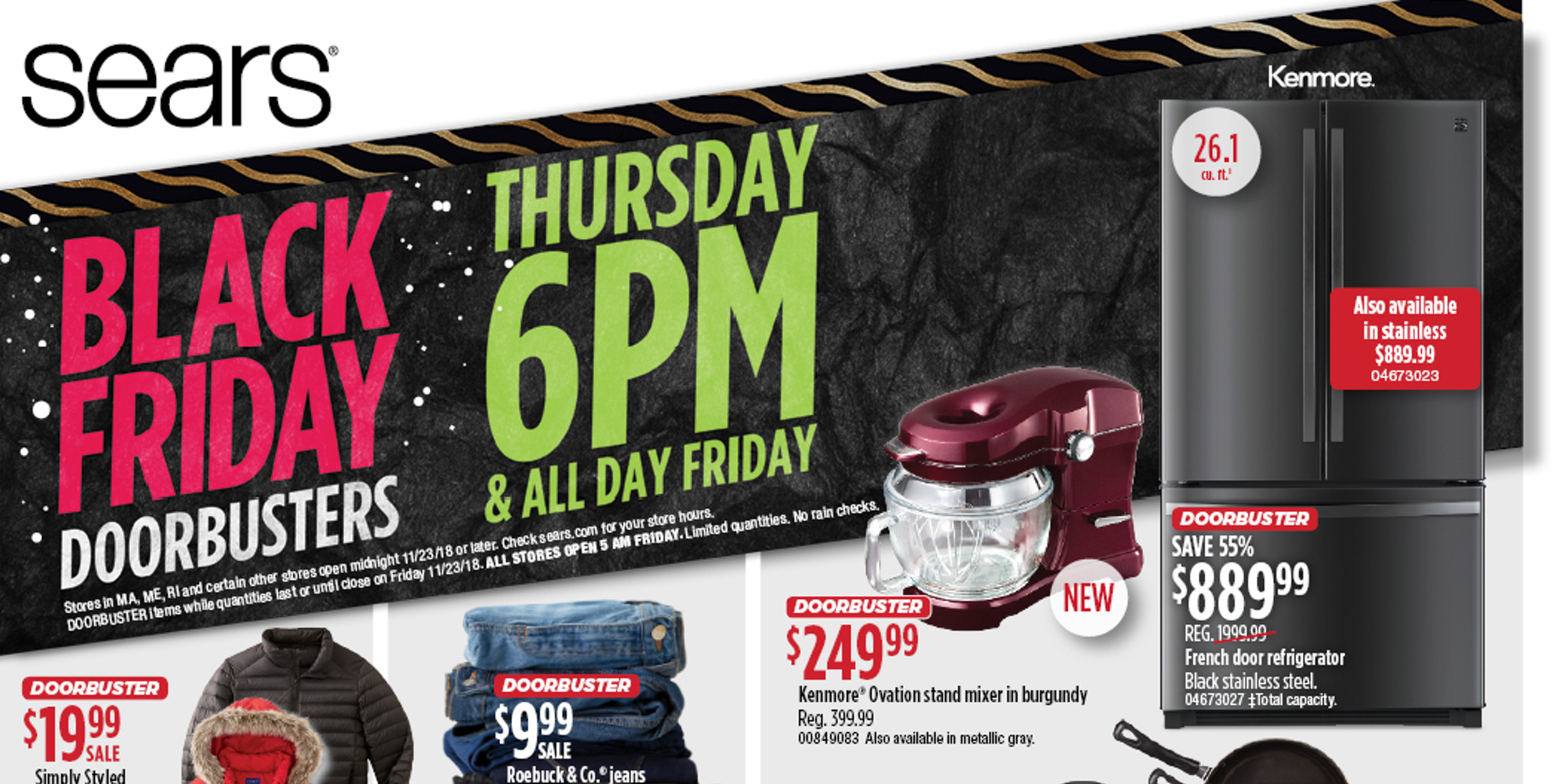 sears may be bankrupt but its black friday 2018 ad has discounted appliances home goods more. Black Bedroom Furniture Sets. Home Design Ideas