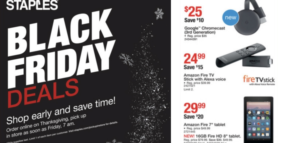 Staples Black Friday Ad Google Deals Echo Speakers More 9to5toys