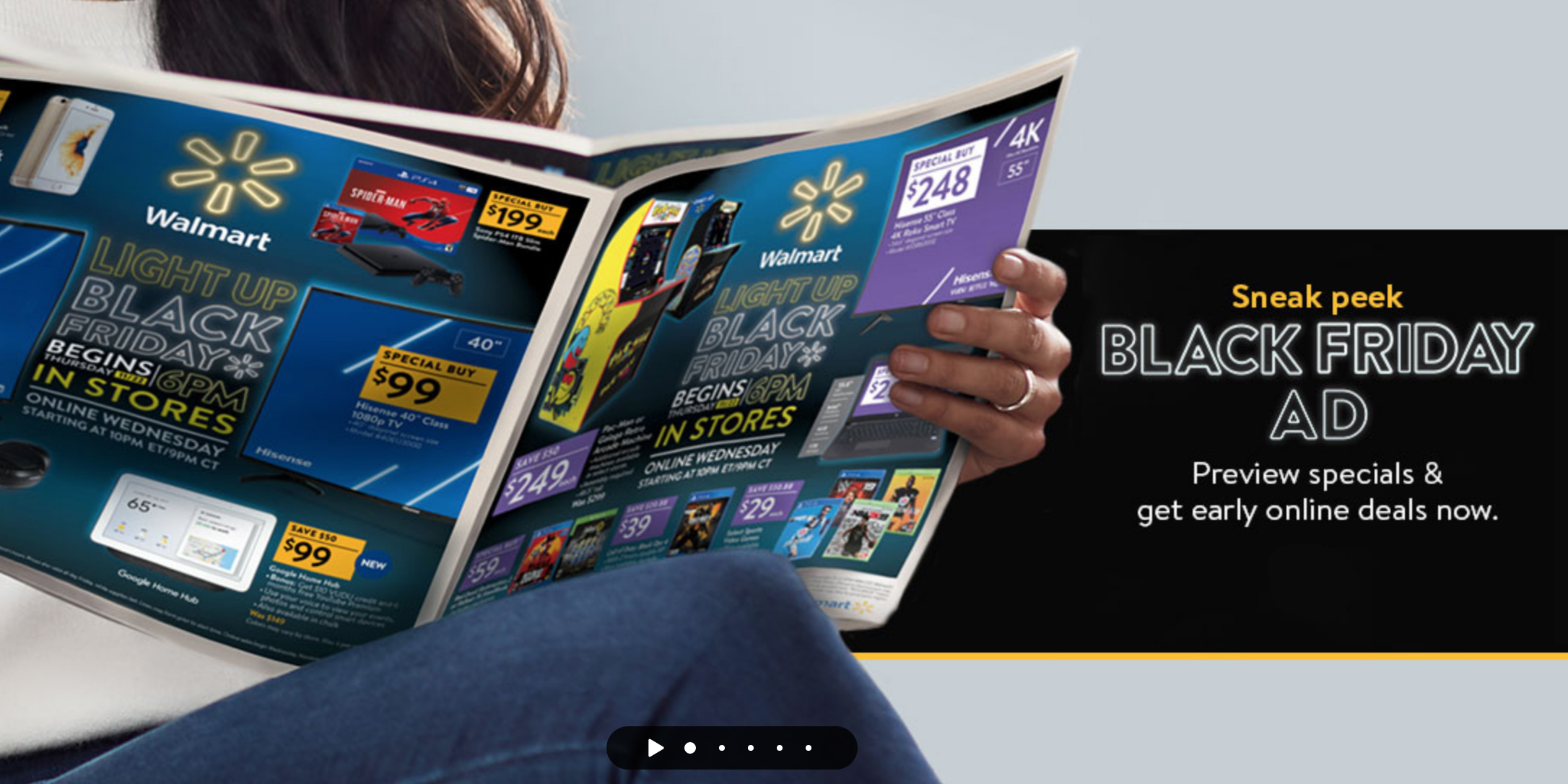 Walmart Black Friday ad: up to $400 gift card w/ iPhone or Android, 4K TVs, Xbox/PS4, much more