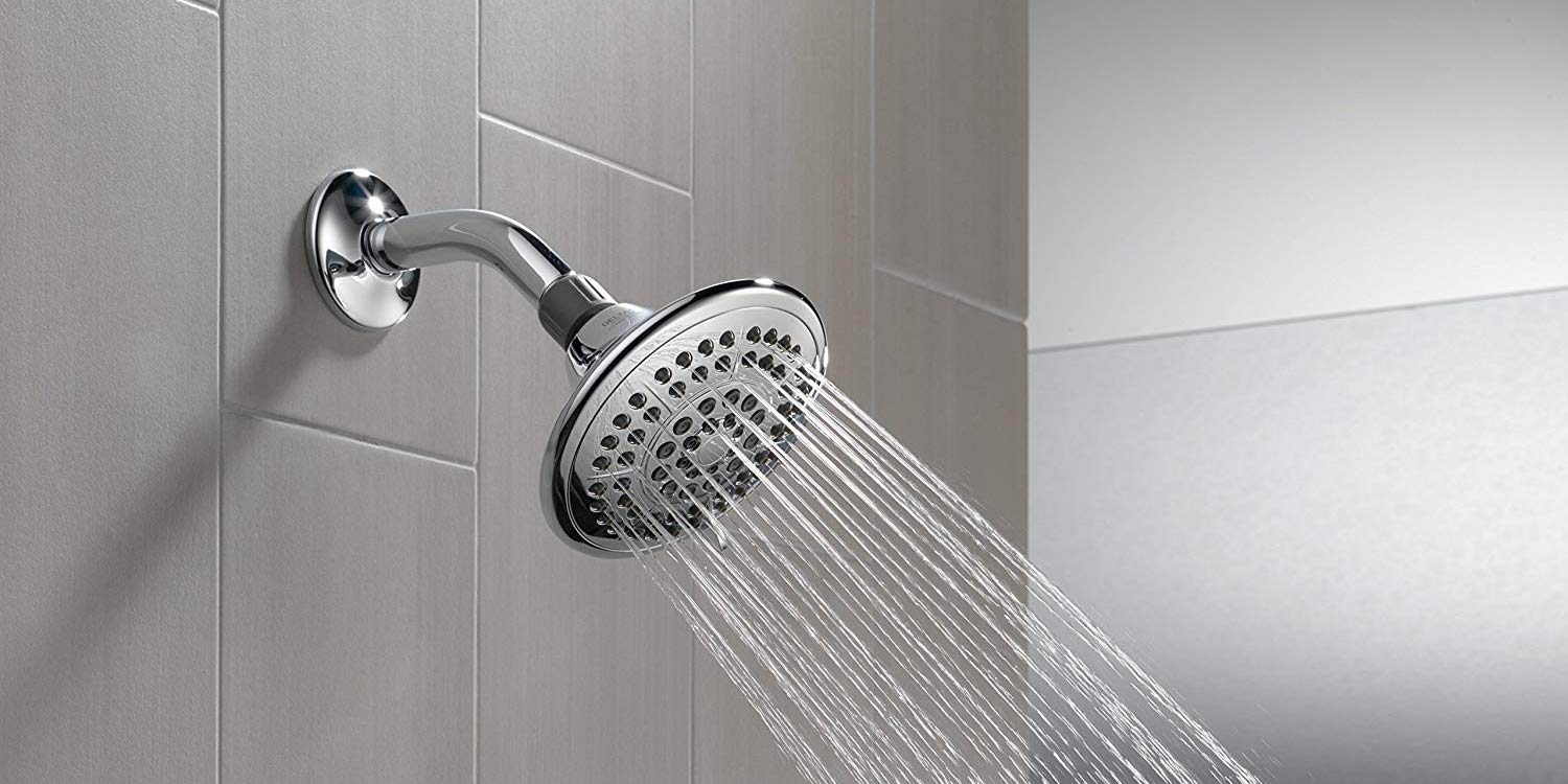 upgrade to delta 39 s 5 spray touch clean shower head for. Black Bedroom Furniture Sets. Home Design Ideas