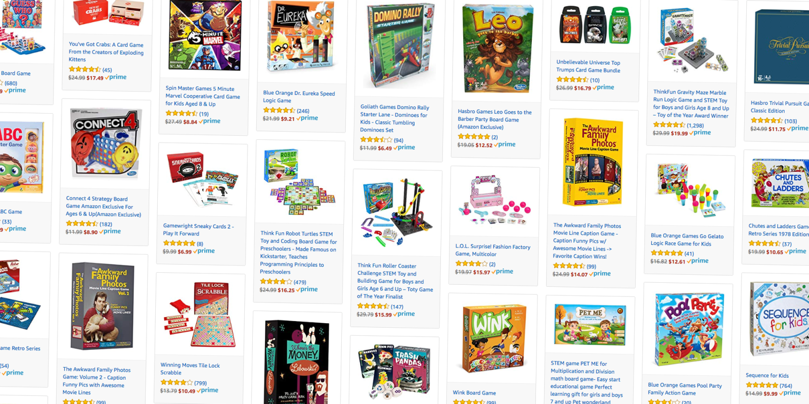 Amazon discounts family games like Outburst, Guess Who, Trivial Pursuit, more from $4