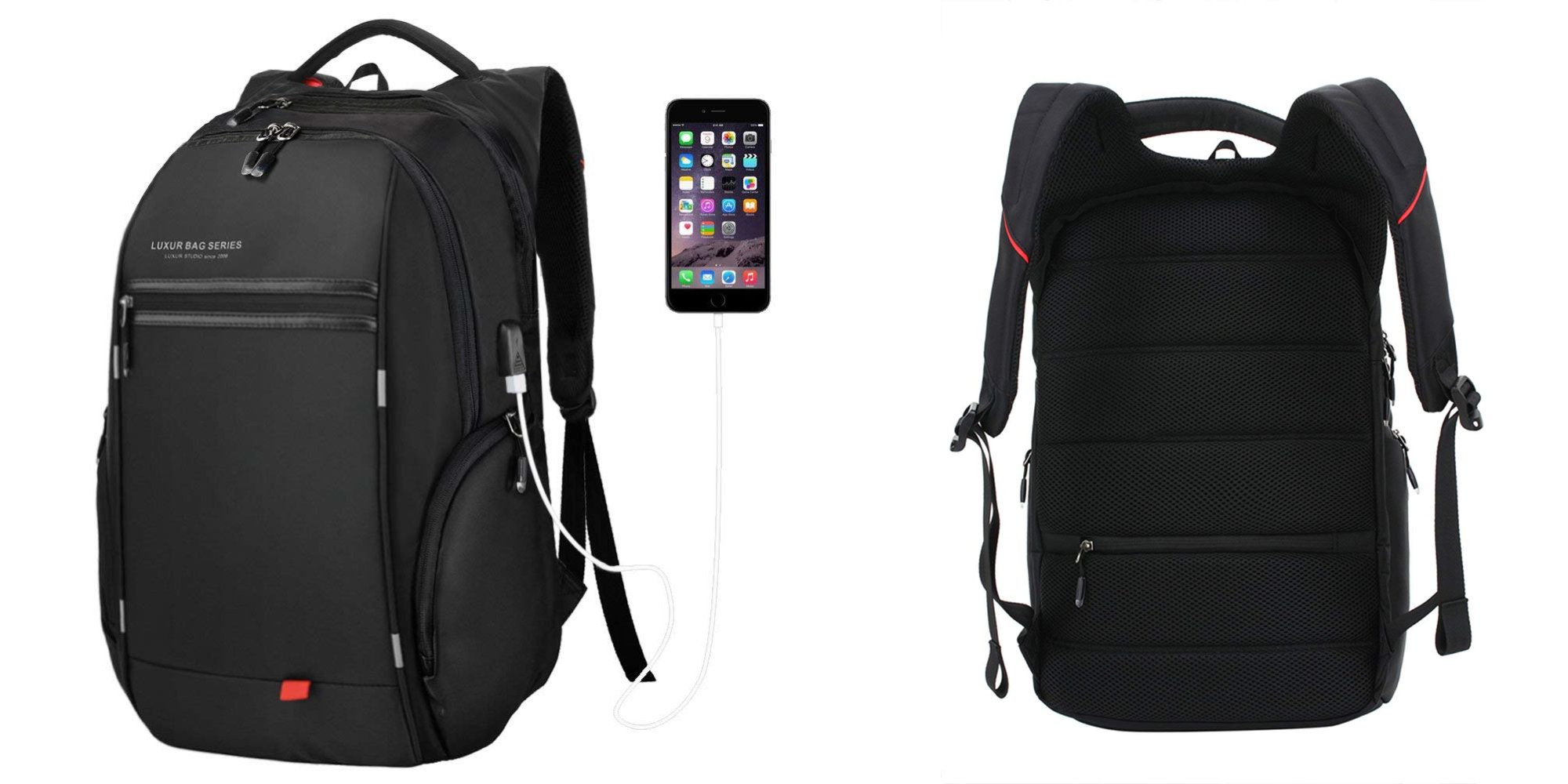This backpack has a USB port and room for a 15-inch MacBook, iPad, more: $16.50 (55% off)