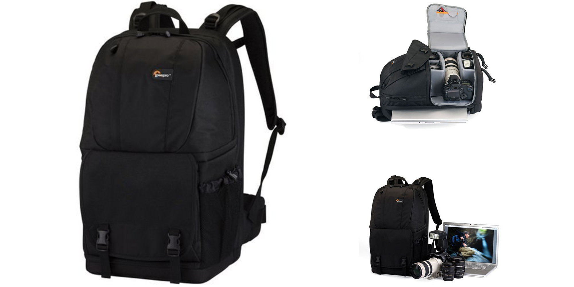 This Lowepro Backpack has room for a MacBook, DSLR, and multiple lenses: $35 (Reg. $80)
