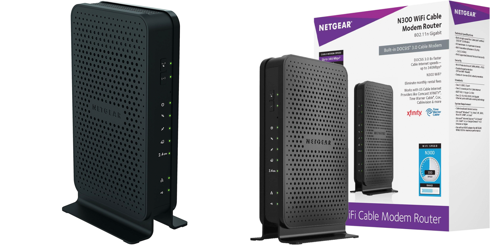 Save up to $120/yr with NETGEAR's DOCSIS 3.0 cable modem/Wi-Fi router combo: $52 (Reg. $80+)
