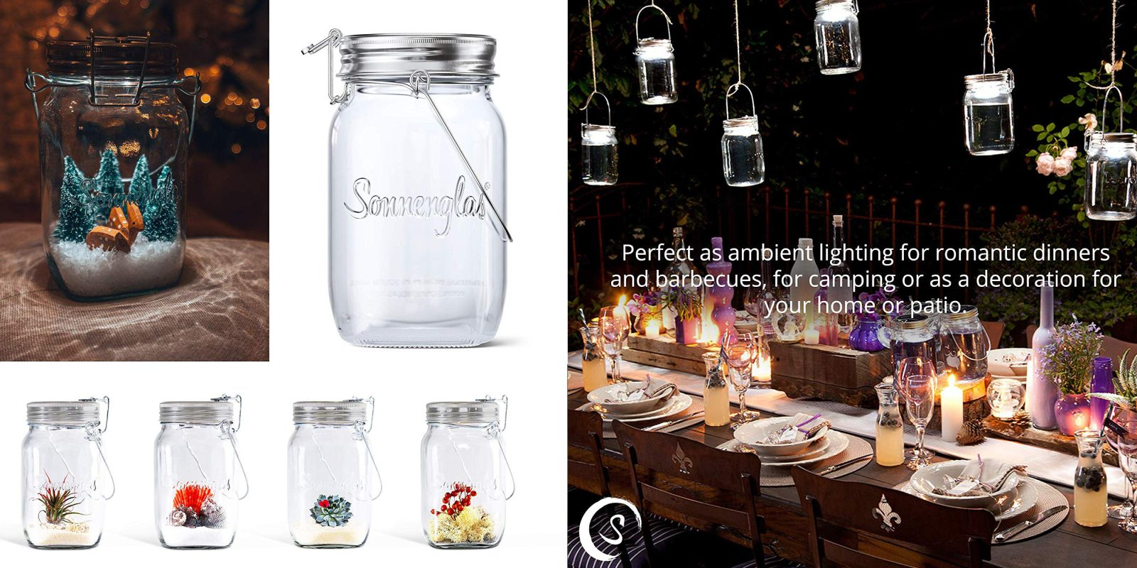 Take Your Holiday Decor Next Level With Sonnenglas Solar Jar