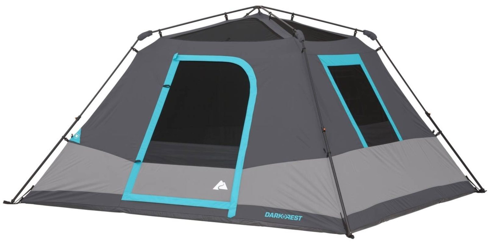 This 6-Person Ozark Trail Tent fits 2 queen size airbeds and sets up