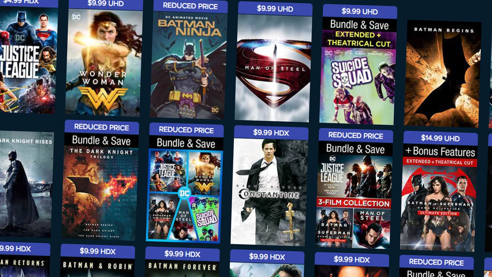 Buy select DC movies from $5 on VUDU, get $8 off your Aquaman movie