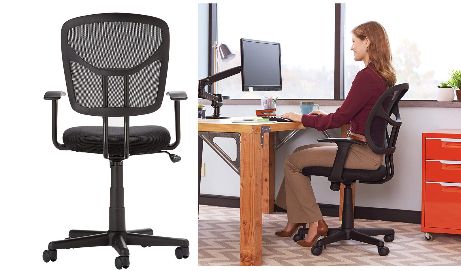 It's time to upgrade your office throne with this ergonomic AmazonBasics chair: $47.50 (Reg. $60)