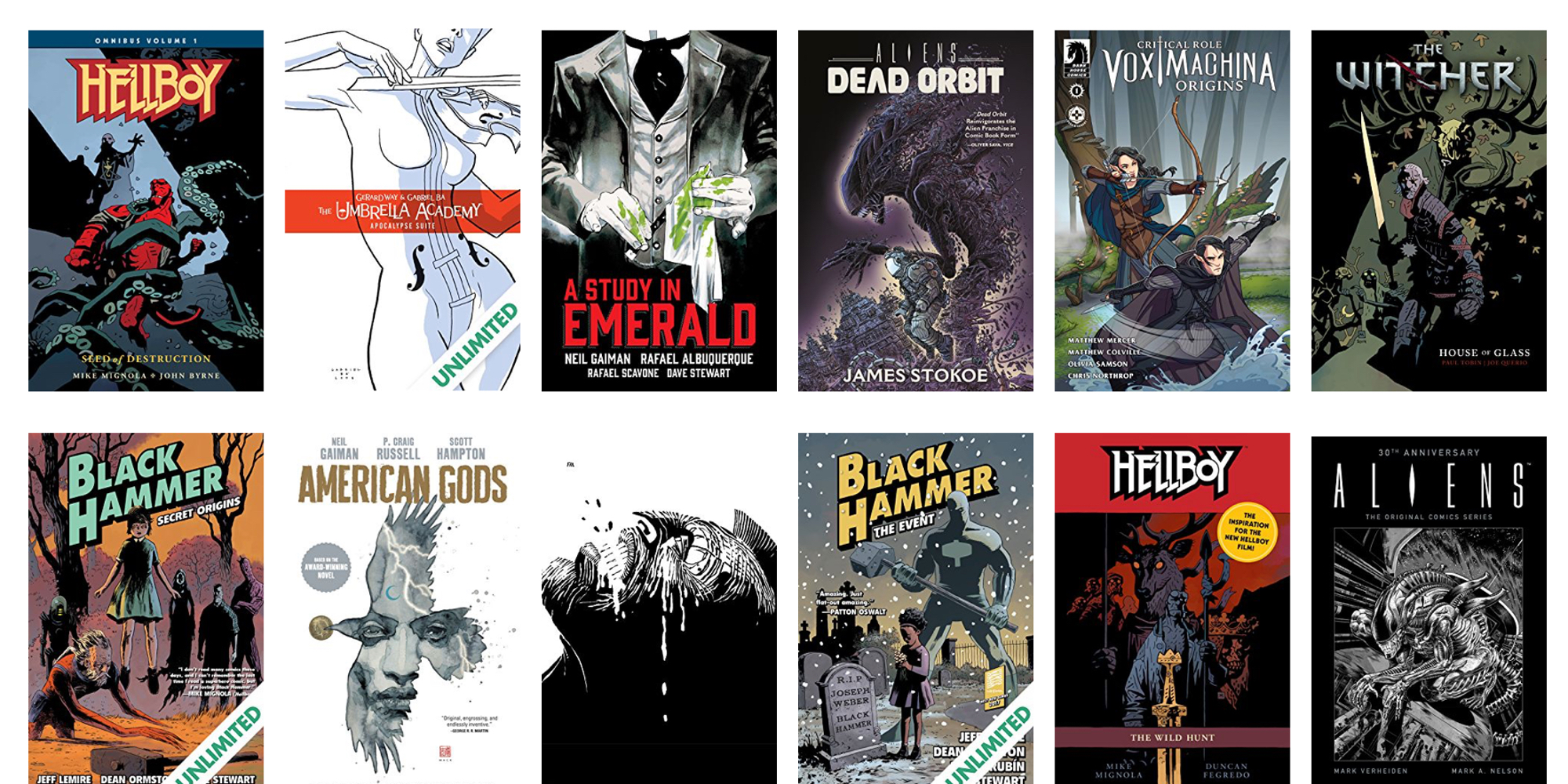 ComiXology slashes 50% off its entire selection of Dark Horse digital comics from under $1