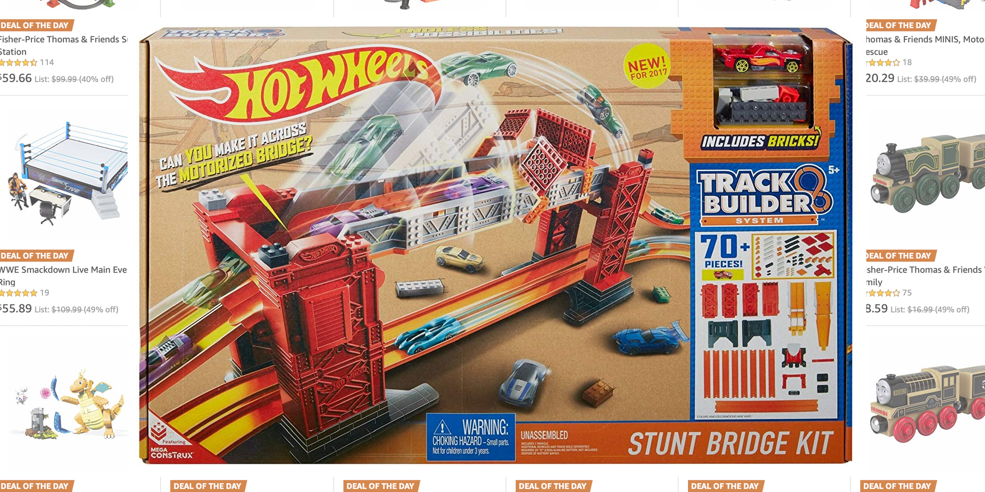Amazon's Last-Minute Deals take 40% off Hot Wheels, Thomas & Friends, and more from $4