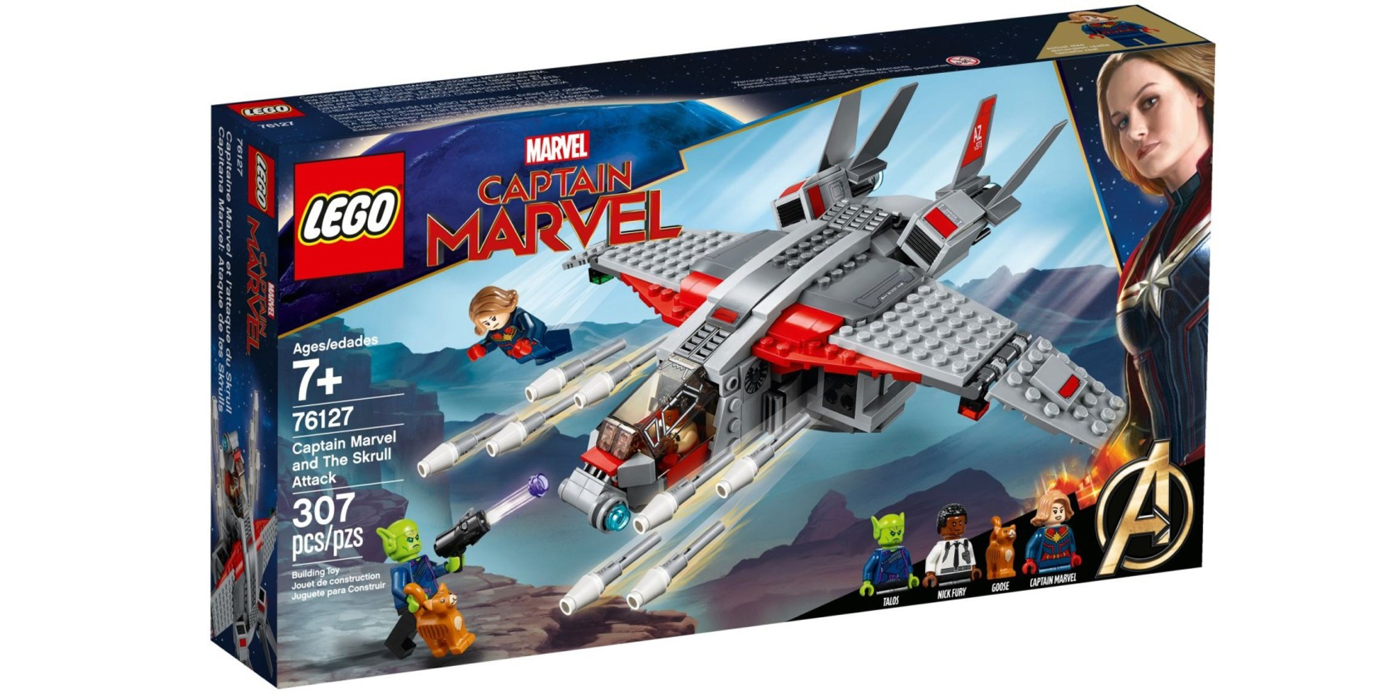 LEGO Captain Marvel Box Front