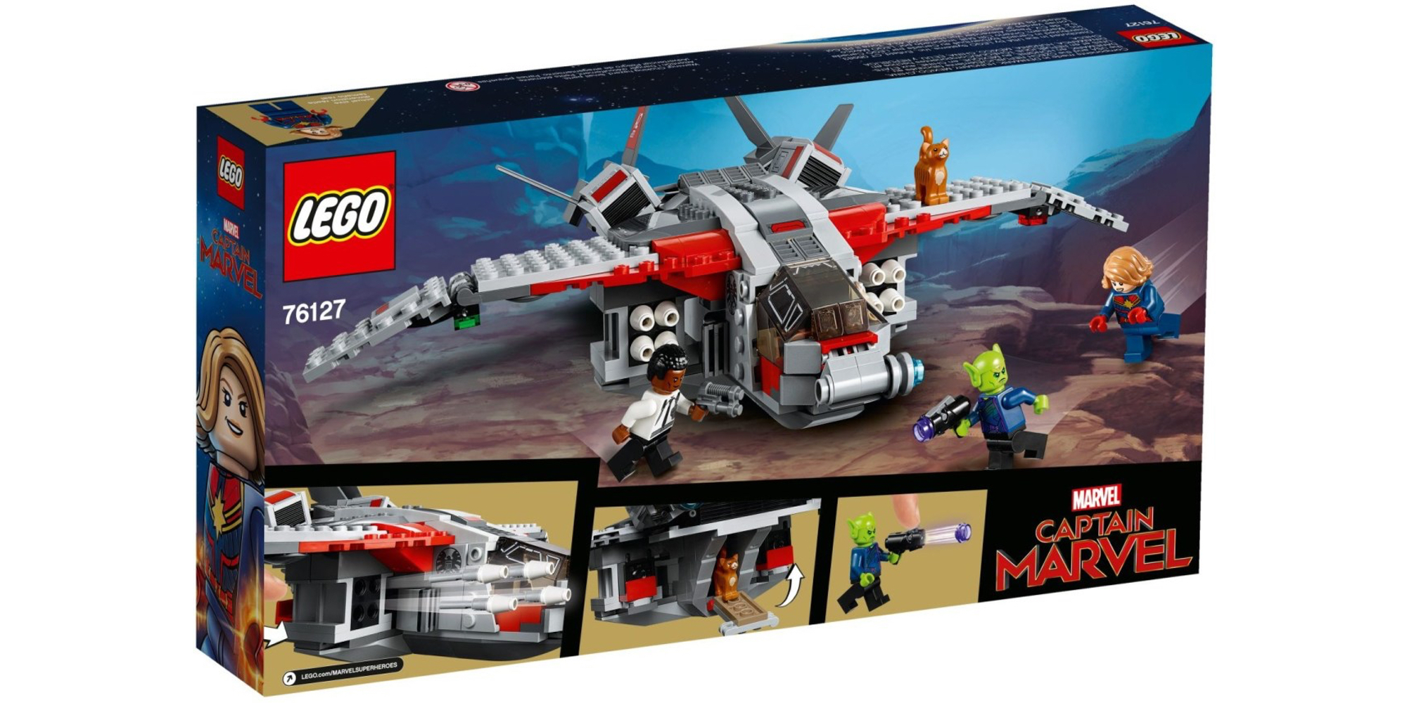 LEGO Captain Marvel Box Back