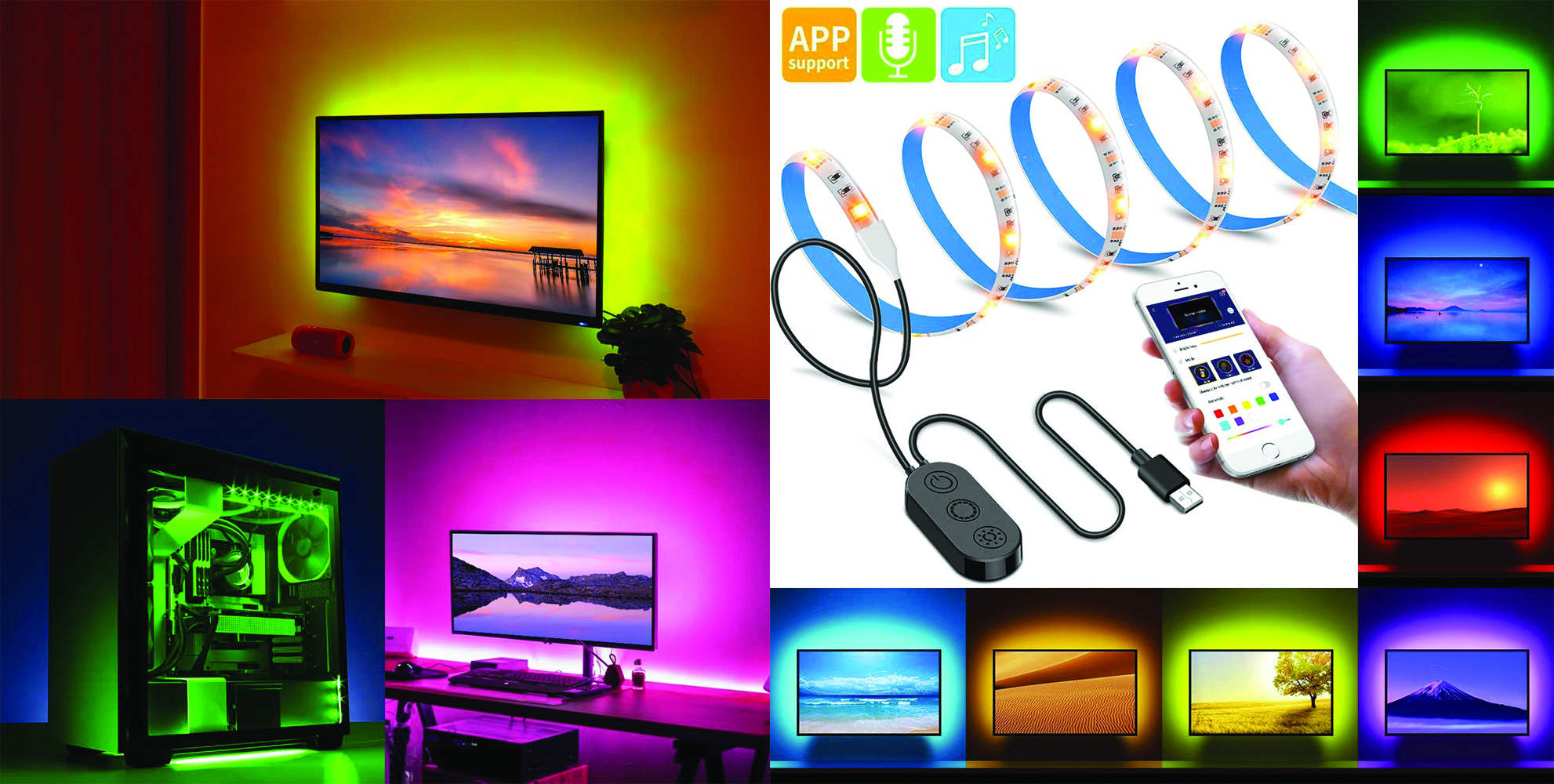 Enjoy colored LED lighting for a fraction of Philips Hue: Get a 6.5-ft. strip for $10 shipped
