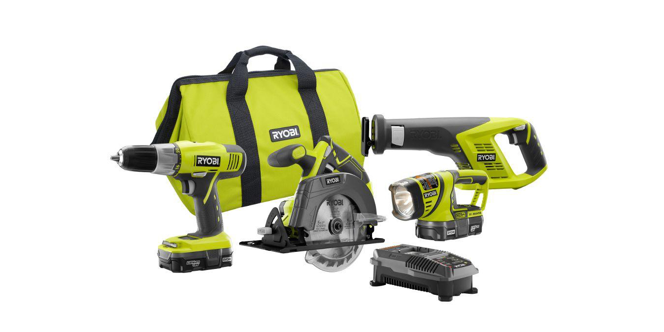 RYOBI's $129 ONE+ Cordless 4-Tool Combo Kit has all your DIY projects covered (Reg. $189), more
