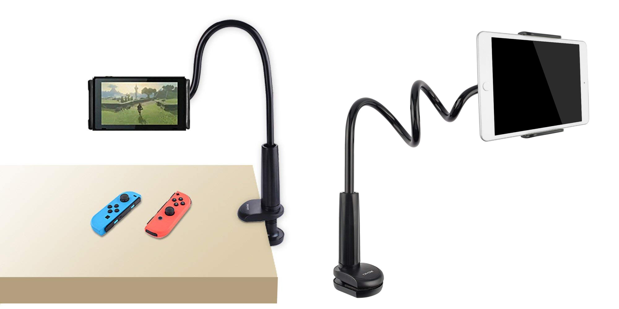 This adjustable gooseneck stand is the perfect iPad or Switch accessory at $14 (30% off)