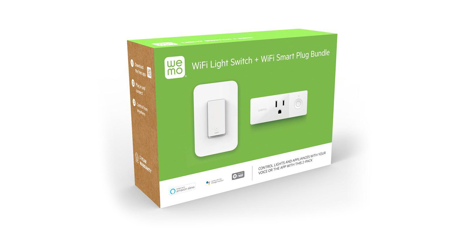 Score a WeMo smart home bundle with both a light switch and plug for $39 ($65 value)