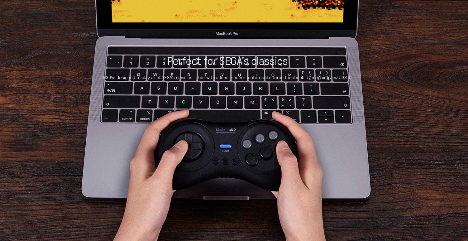 8Bitdo M30 Sega Genesis Bluetooth Gamepad