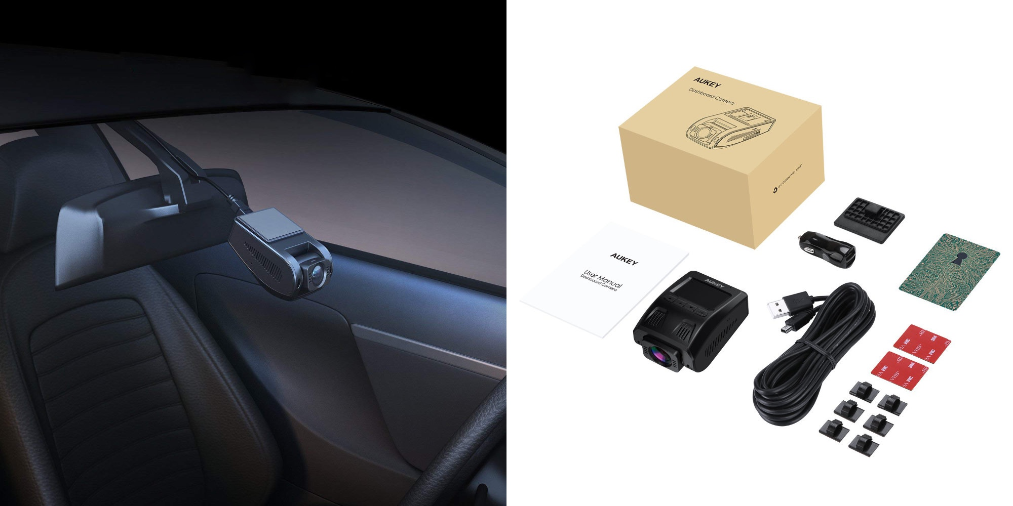 This Aukey 1080p Dash Cam stealthily installs behind your rearview mirror: $49.50 (Reg. $70)