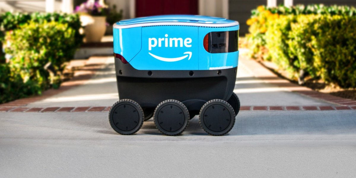 Amazon Scout delivery vehicles