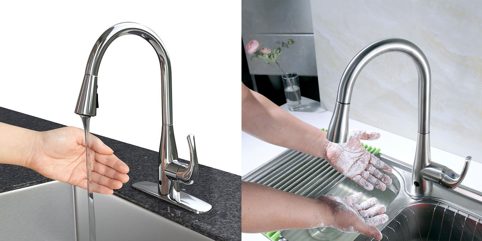 Bio Bidet S Highly Rated Kitchen Faucet Turns On W Just A