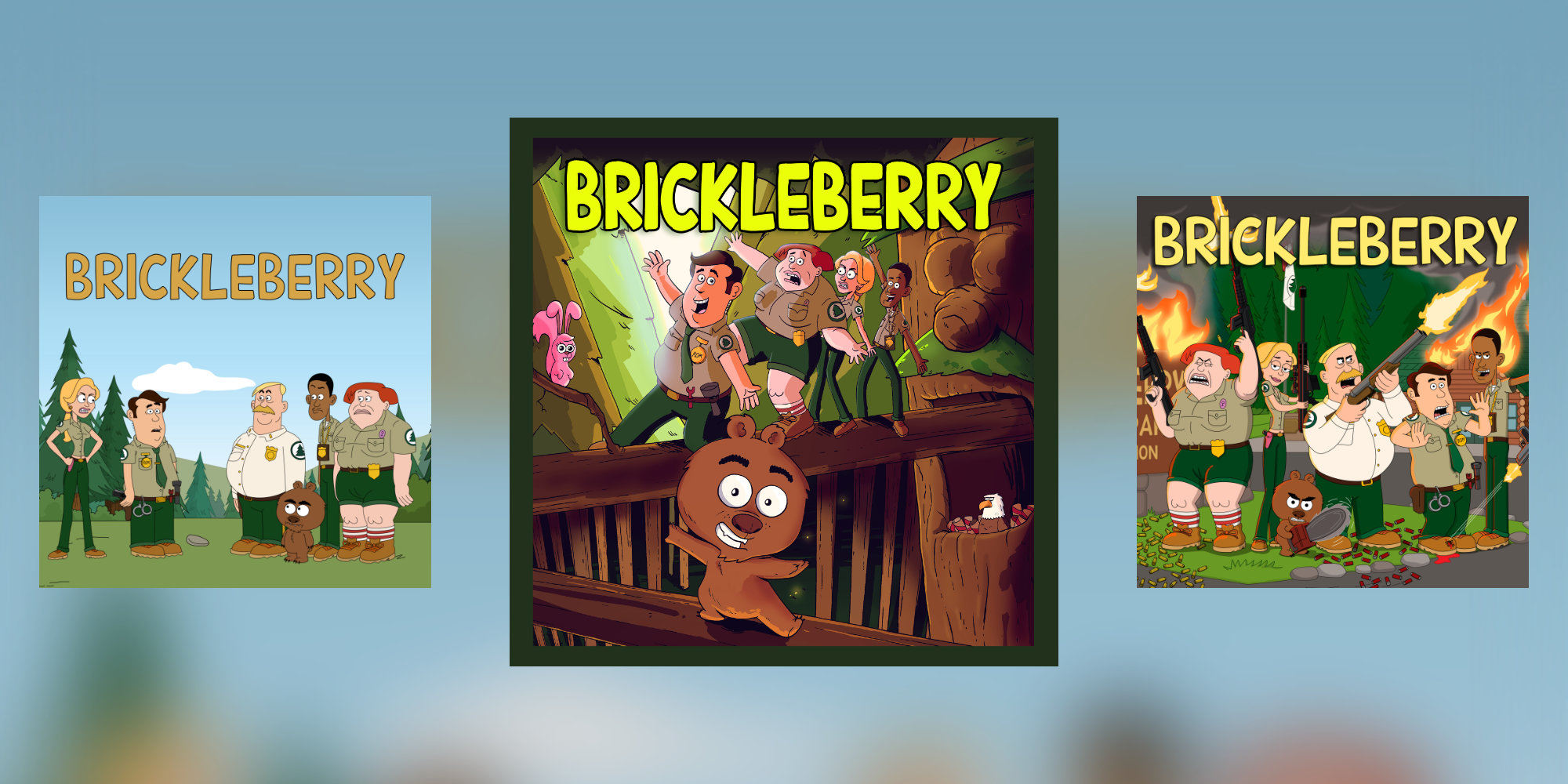 Dysfunctional comedy is on deck w/ Brickleberry Seasons 1-3 for $3 each (up to 60% off)