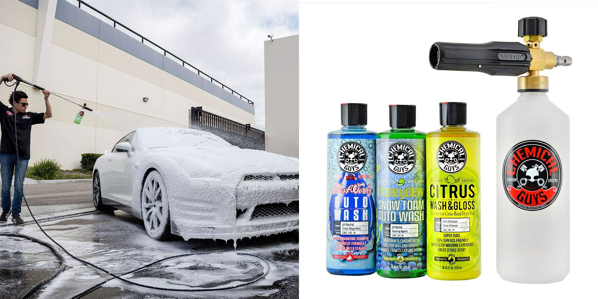This Chemical Guys foam cannon + soap is a perfect buy to wash your car: $69.50 (Reg. $90)