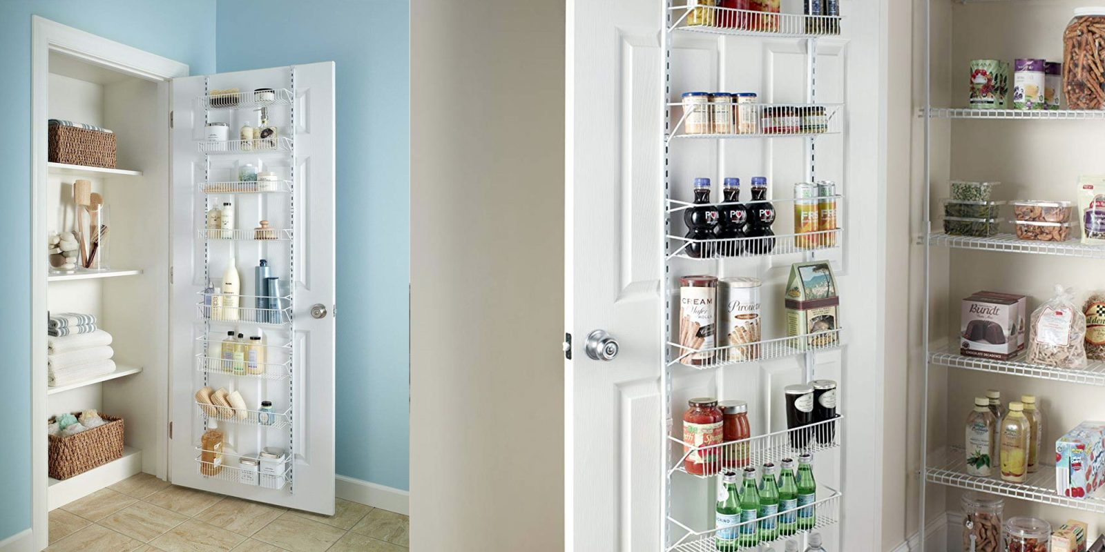 Organize your closet or pantry w this 20 over door rack from amazon or target