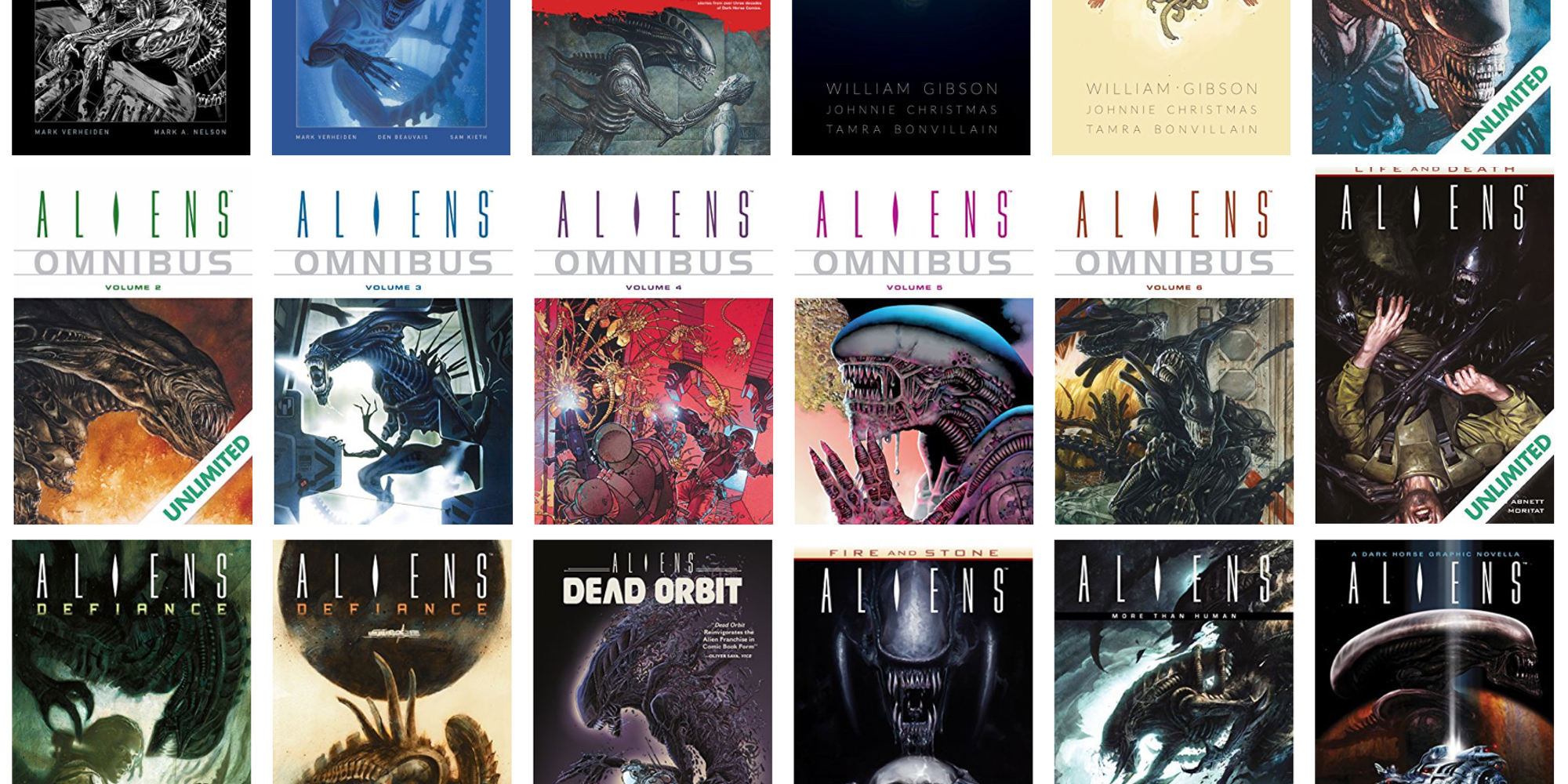Save up to 65% on Dark Horse Aliens digital comics and collections from $1 at ComiXology
