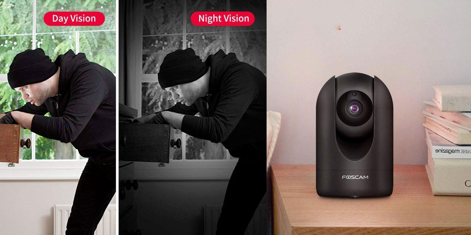 Keep an eye on your home w/ Foscam's Wi-Fi 1080p pan/tilt