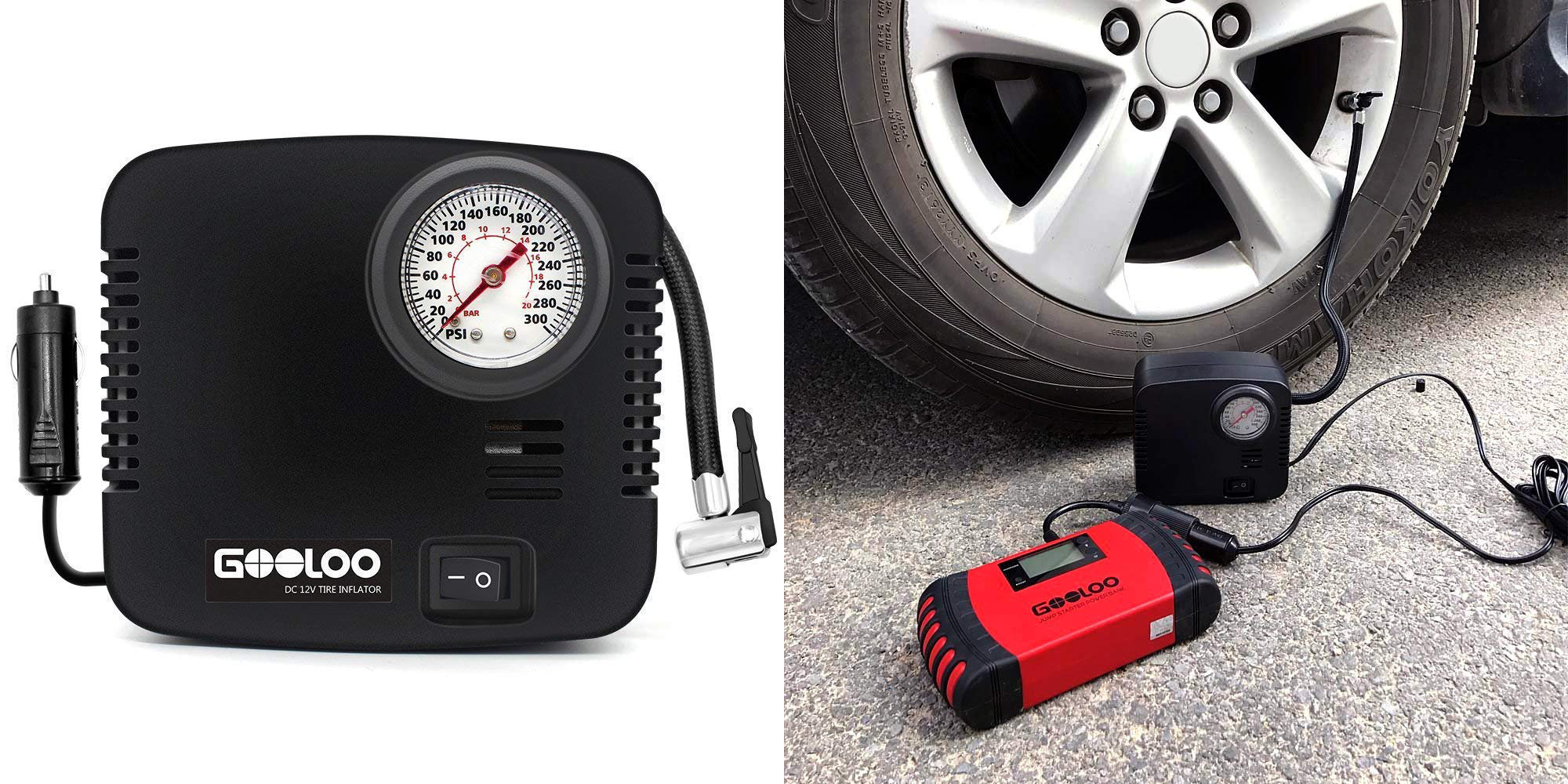 Keep your tires properly inflated w/ this portable air compressor for better gas mileage: $10 (35% off)