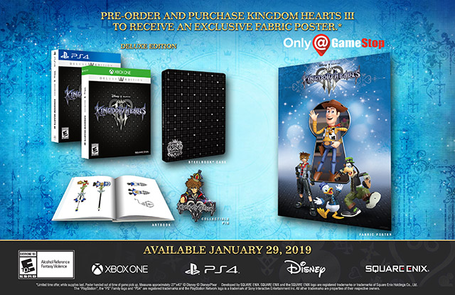 Kingdom Hearts III pre-order bonuses