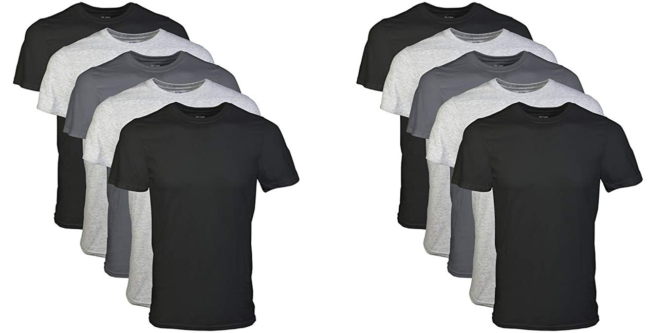 Gildan's 5-Pack Assorted Crew T-Shirts are a great option for everyday wear at $11 shipped