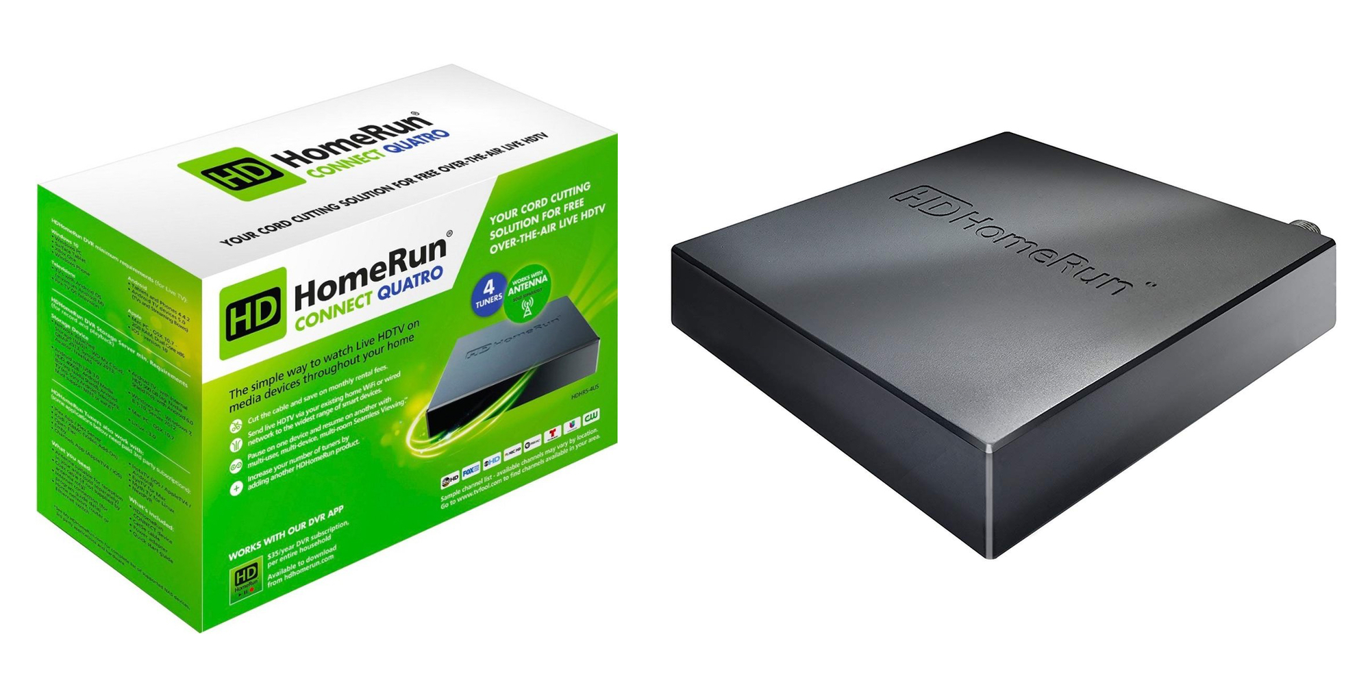 Cut the cord and DVR your favorite shows w/ the HDHomeRun Connect Quatro for $110 (Reg. $150)