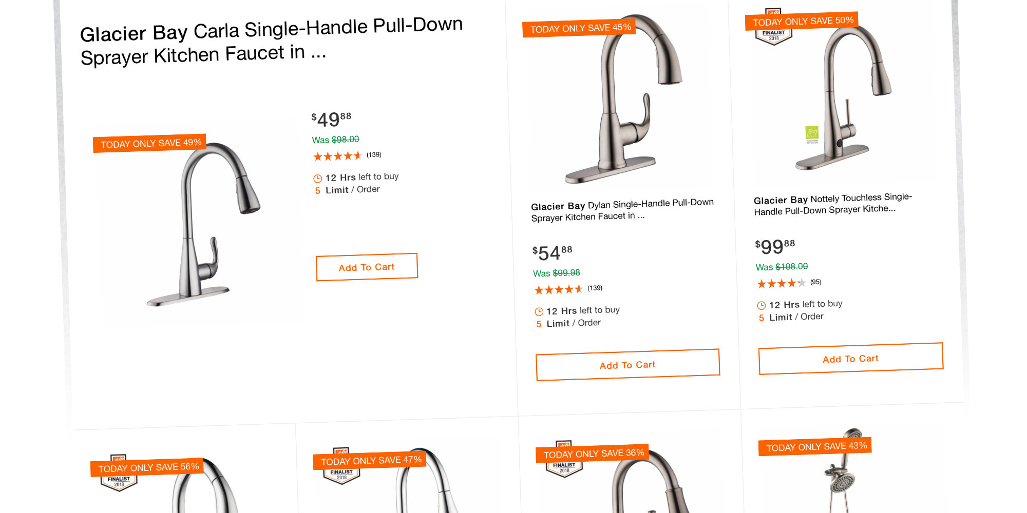 Home Depot Takes Up To 55 Off Glacier Bay Kitchen And Bath Hardware